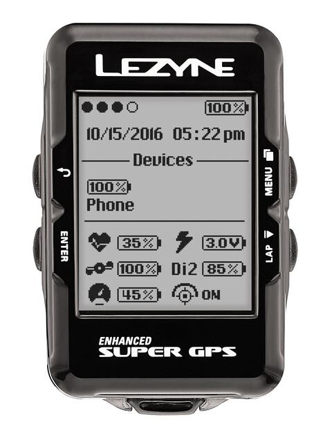 Lezyne Super - Ciclocomputadores inalámbricos - con monitor de frecuencia cardíaca negro